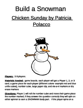 Build a Snowman Chicken Sunday by Patricia Polocco