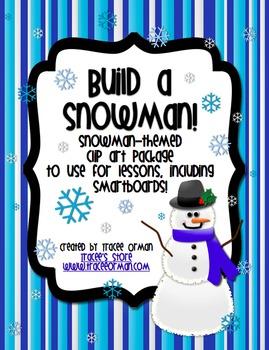 Build a Snowman Clip Art for Commercial Use