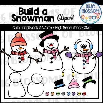 Build a Snowman Clipart