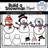 Build a Snowman Clipart