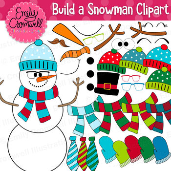 Build a Snowman Clipart Set