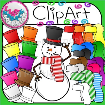 Build a Snowman Clip Art for Christmas and Winter