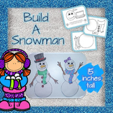 Build a Snowman - Color, Cut and Paste Christmas/Winter Activity
