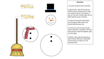 Build a Snowman Counting and Probability