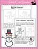 Winter Math Center - Build a Snowman Dice Game