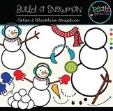 Build a Snowman - Digital Clipart
