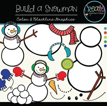 Build a Snowman - Digital Clipart