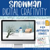 Build a Snowman Digital Craftivity in 4 difficulties