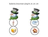 Build a Snowman Digraphs- th, sh, wh, ch