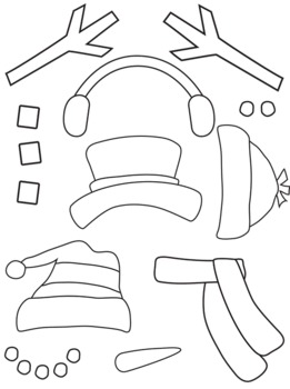Punchy image pertaining to snowman parts printable
