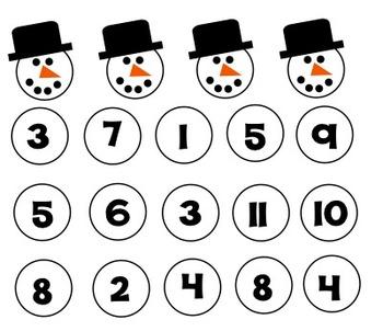 Build a Snowman Fact Family Freebie