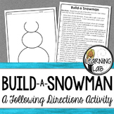 Build a Snowman (Following Directions)