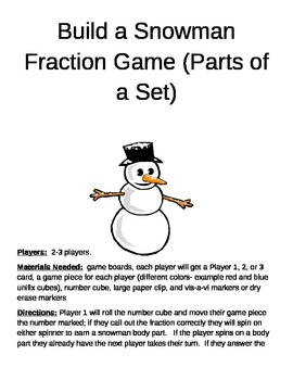 Build a Snowman Fractions (Parts of a Set)