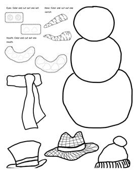 Build a Snowman Glyph Activity 2