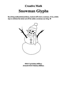 Build a Snowman Glyph Activity