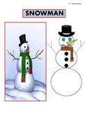 Build a Snowman/ Label Parts/ Color Page for Autism