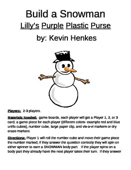 Build a Snowman Lilly's Purple Plastic Purse by Kevin Henkes