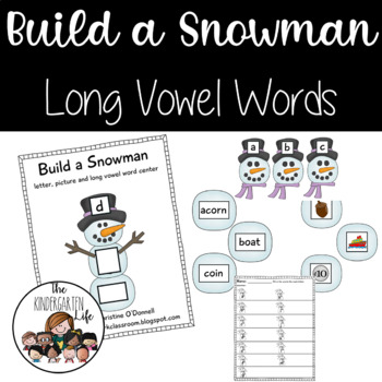 Build a Snowman Long Vowel Center CVCV, CVVC and more!