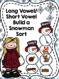 Build a Snowman Long Vowel/ Short Vowel Sort