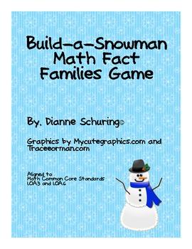 Build-a-Snowman Math Fact Families Game