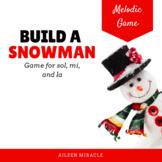 Build a Snowman Melodic Game {La}