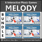 Winter Music Games: Interactive Melody Games Bundle {Build a Snowman}
