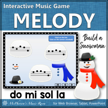 Build a Snowman - Interactive Melody Game (Do Mi Sol La)