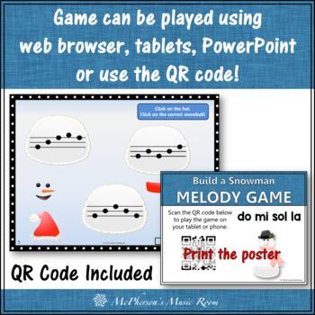 Winter Music Game: Do Mi Sol La Interactive Melody Game {Build a Snowman}