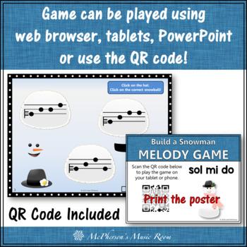 Winter Music Game: Do Mi Sol Interactive Melody Game {Build a Snowman}