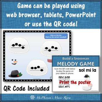 Winter Music Game: Sol Mi La Interactive Melody Game {Build a Snowman}