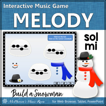 Build a Snowman - Interactive Melody Game (Sol Mi)