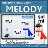 Winter Music Game: Sol Mi Interactive Melody Game {Build a Snowman}