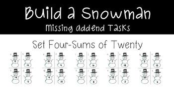 Build a Snowman Missing Addend Tasks
