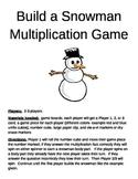 Build a Snowman Multiplication 2 Digit x 2 Digit Game