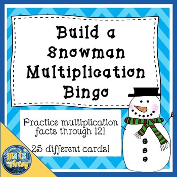 Build a Snowman Multiplication Bingo