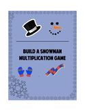 Build a Snowman Multiplication Game