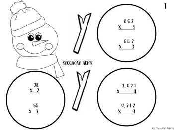 Build a Snowman! Multiplication & Long Division Review