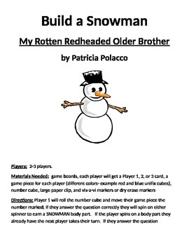 Build a Snowman My Rotten Redheaded Older Brother by Patri