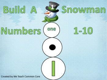 Build a Snowman Numbers 1-10 in Different Ways Math Center