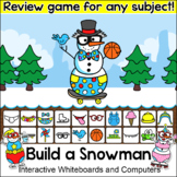 Winter Activities Build a Snowman Review Game for Any Subject