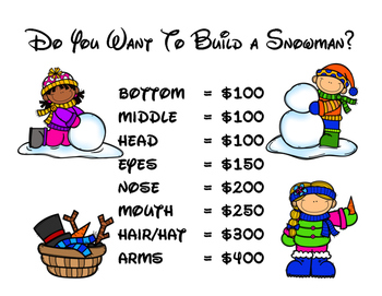 Build/Draw a Snowman - Review Game for Any Subject