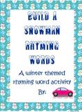 Build-a-Snowman Rhyming words