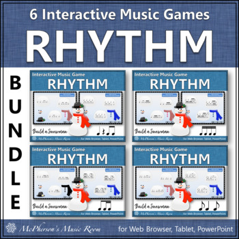 Build a Snowman Interactive Rhythm Games (Bundle)