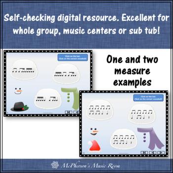 Winter Music Games: Interactive Rhythm Games Bundle {Build a Snowman}