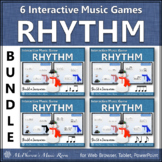 Winter Music Games: Interactive Rhythm Games Bundle {Build a Snowman}