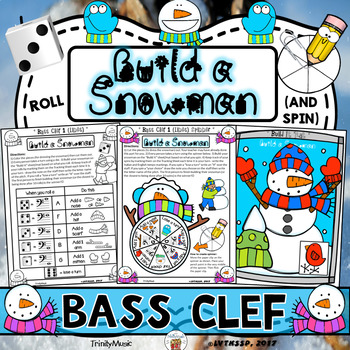 Build a Snowman (Roll and Spin Bass Clef Edition)