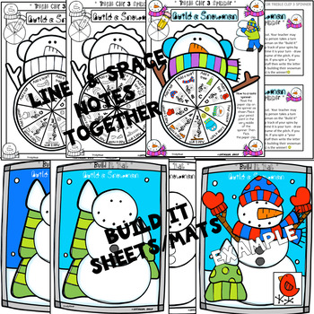 Build a Snowman (Roll and Spin Treble Clef Edition)