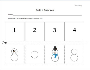 Build a Snowman! (Sequencing)
