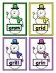 Build a Snowman Short Vowel Word Reading Game - Initial Consonant Blends