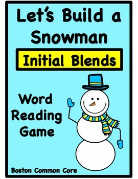 Build a Snowman Short Vowel Word Reading Game - Initial Co